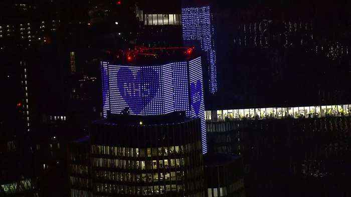 London turns blue in support for the NHS