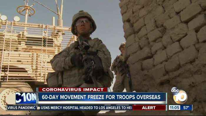 60-day movement freeze for troops overseas