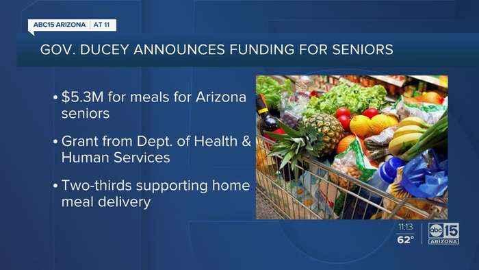 Gov. Ducey announces $5.3 million for meals for Arizona seniors
