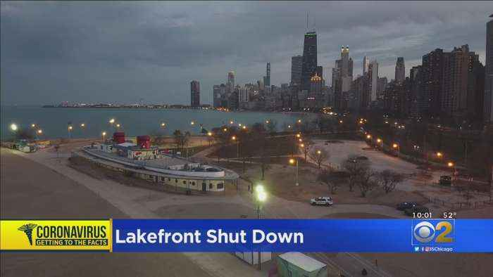 Police Clear Lakefront Of Stay-At-Home Order Violators