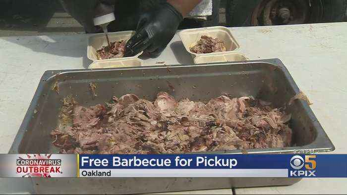 Oakland Pitmaster Serves Up Free BBQ To Families Affected By Coronavirus