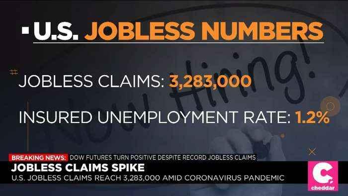 U.S. Jobless Claims Hit 3.3 Million, Quadruple Previous Record