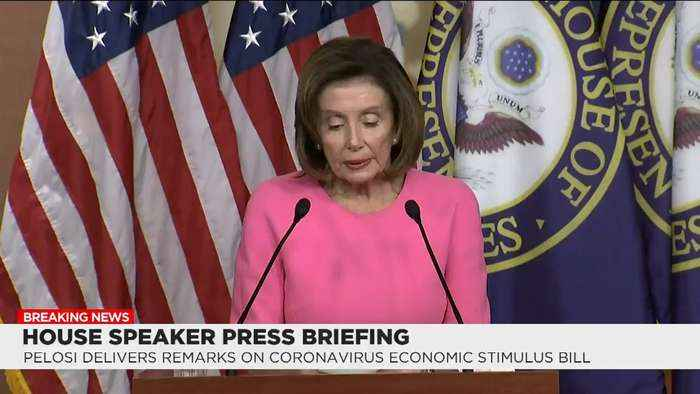 House Speaker Pelosi 'Very Proud' of Emergency Aid Package But Ready for Phase IV