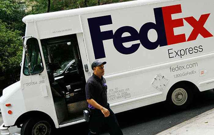 FedEx employee finds care package waiting for him at doorstep