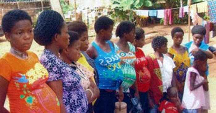 Nigerian police rescued these 19 young women from the 'Baby Factory'