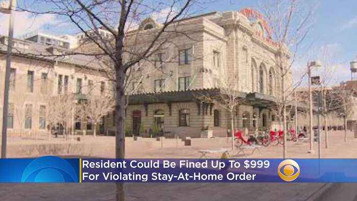 Residents Could Face $999 Fine For Violating Stay-At-Home Order In Denver