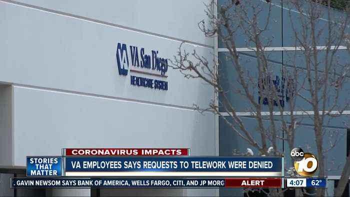 VA employees says telework requests were denied