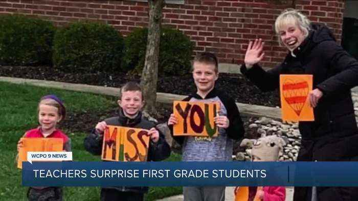 Acts of Kindess: Teachers missing their students throw surprise parade