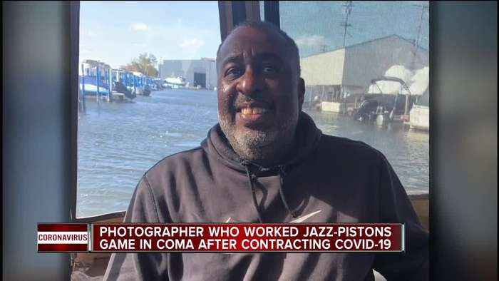 Photographer who worked Jazz-Pistons game in coma after contracting COVID-19
