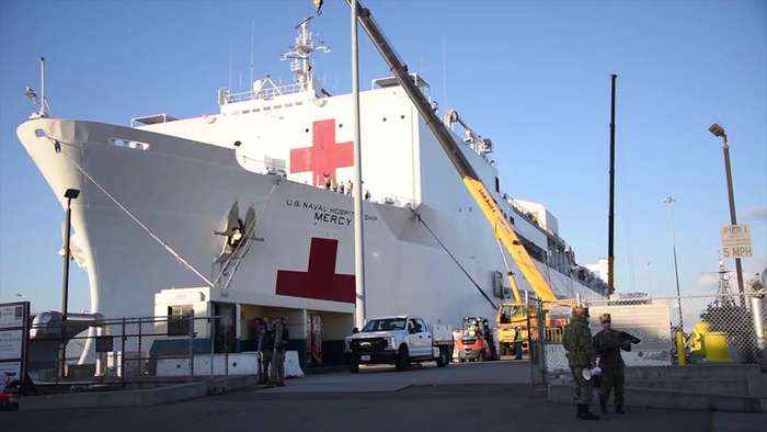 Coronavirus Cases in California Surge as Navy Hospital Ship en Route to Help Hospitals