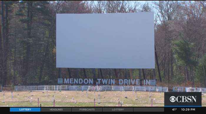 Mendon Twin Drive-In Delays Opening