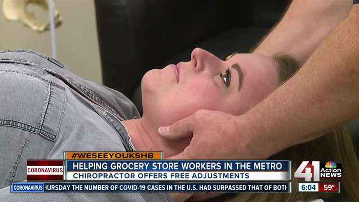 Chiropractor thanks grocery workers with free adjustments