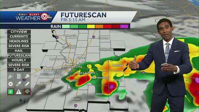 Stormy weather Thursday night into Friday