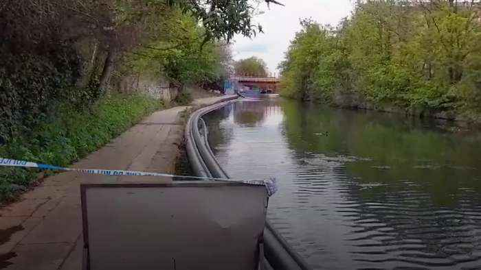 Body of newborn baby found in canal in north-west London