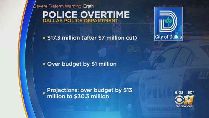 Dallas Police Overtime Budget Goes Over By $1 Million, Projected To Grow By Millions More