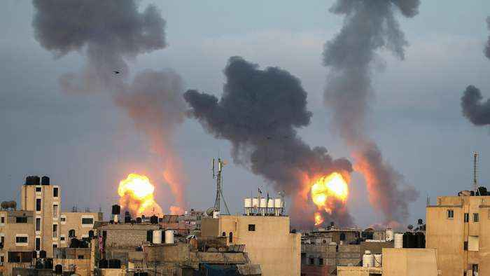 Palestinians report 21 killed in Israeli air raids on Gaza