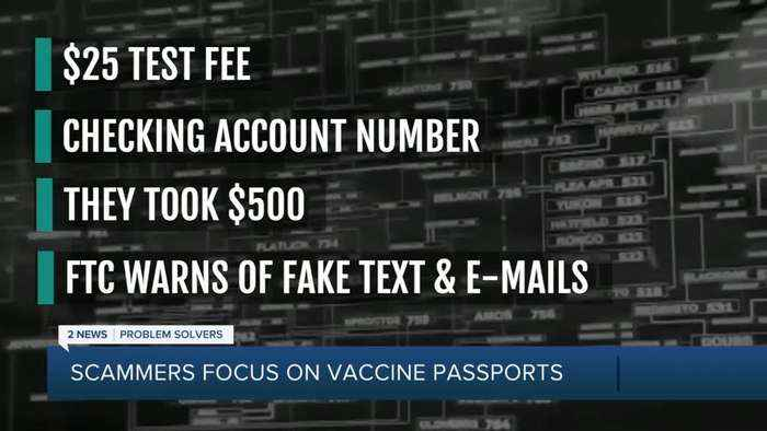 Avoiding COVID-19 vaccine passport scams