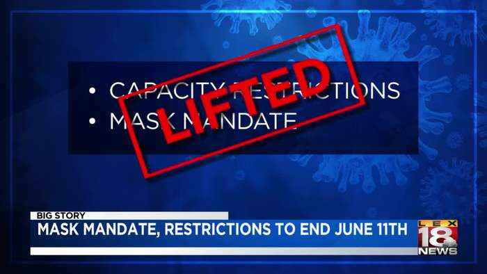 Statewide mask mandate will end on June 11, venues can also go back to full capacity on that date