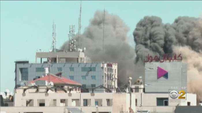 Fighting Intensifies In Gaza As Israeli Airstrike Destroys 12-Story Building