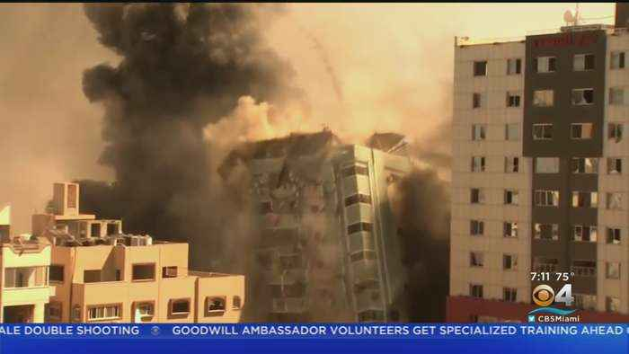 Building In Gaza Containing Foreign Media Offices Destroyed By Israeli Airstrike