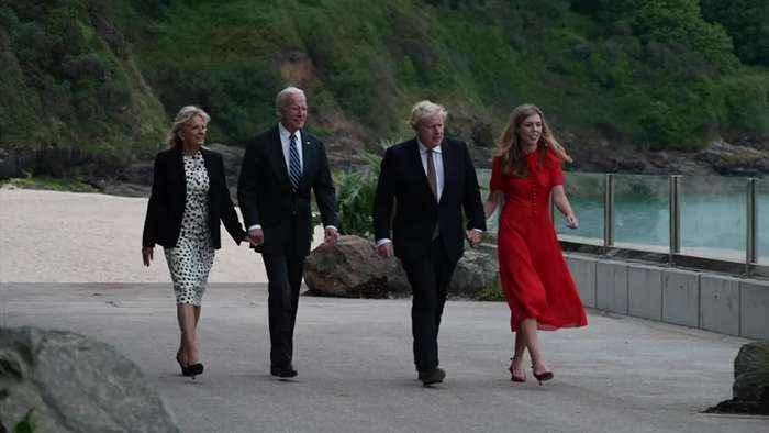 The Johnsons and Bidens meet ahead of G7 Summit