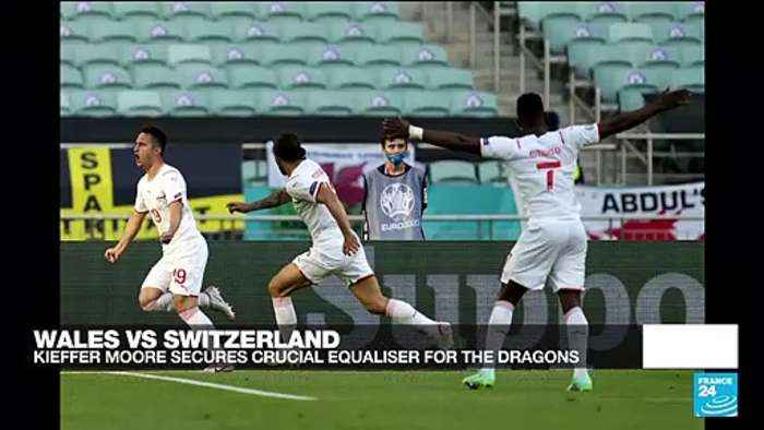 Euro 2021: Moore heads Wales to 1-1 draw with Switzerland