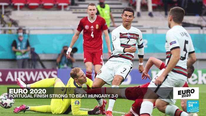Euro 2020: Ronaldo scores twice as holders Portugal beat Hungary 3-0