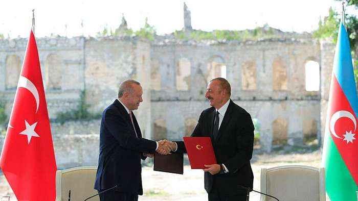 Armenia fumes as leaders of Turkey and Azerbaijan visit retaken Nagorno-Karabakh city