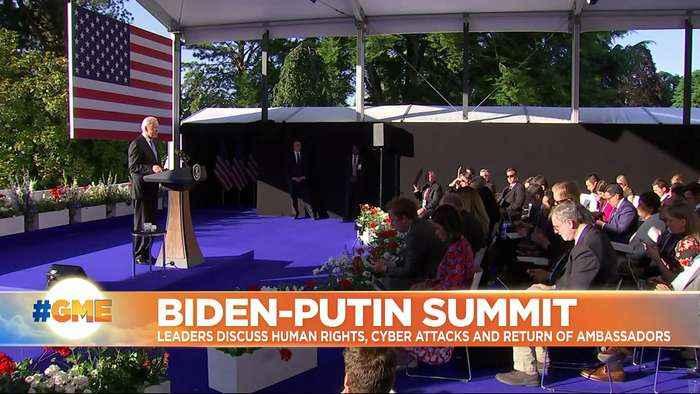 Joe Biden says he told Vladimir Putin 'we need to set basic rules of the road' at Geneva meeting