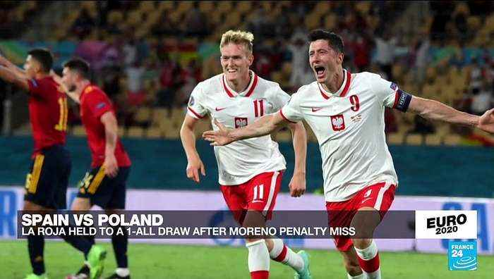 Euro 2020: Spain held to 1-1 draw by Poland