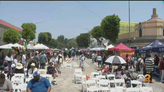 Leimert Park Rising, Celebrating The Reopening The Park And First Official National Juneteenth Holiday
