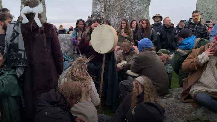 Visitors gather at Stonehenge for Solstice despite Covid rules