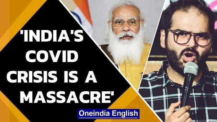 Kunal Kamra NYT video | Comedian calls India's covid crisis a state massacre | Oneindia News
