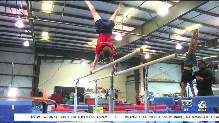 local teen gymnast dreams of the olympics
