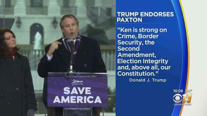 Former President Trump Endorses Ken Paxton To Be Re-Elected As Texas Attorney General