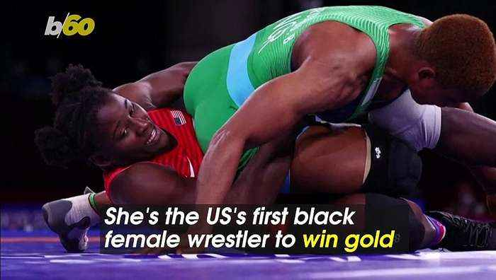 US's First Black Female Gold Medalist Wrestler Gives Important Piece of Advice
