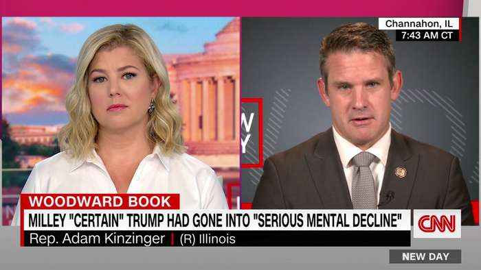 Kinzinger asked about reports of Trump's 'mental decline'