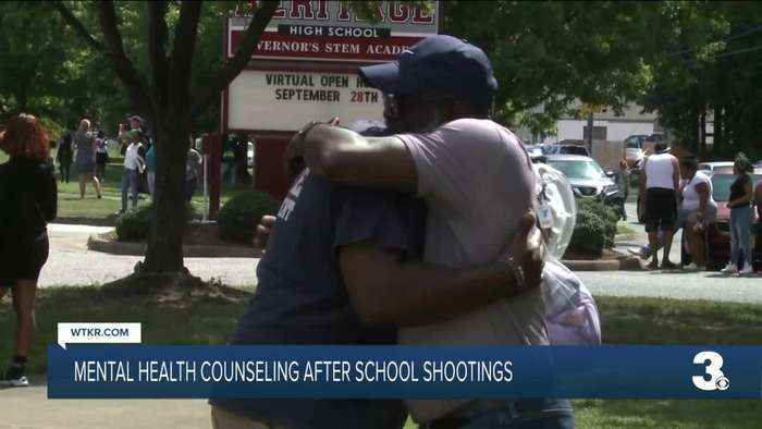 Mental health counseling after school shootings