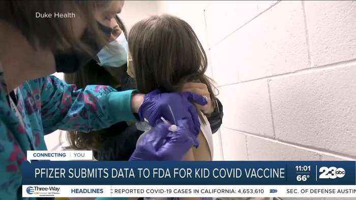 Pfizer submits data to FDA for kid COVID vaccine