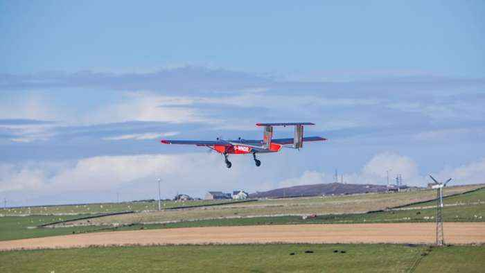 See drone deliver mail to remote British island