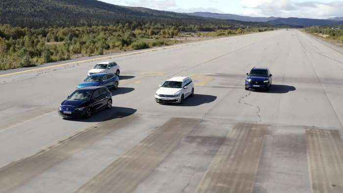 Volkswagen Plug-In Hybrid Experience Days Norway 2021 Track driving
