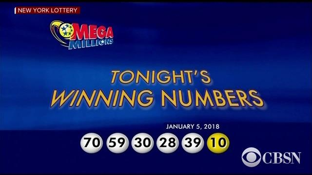 Mega Millions Numbers Drawn For January 5, 2018