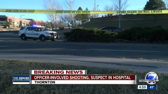 Car theft suspect shot by Thornton Police during - One ...