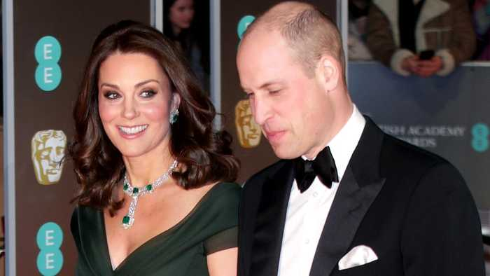 News video: Kate Middleton Hits the Red Carpet in Deep Green Amid BAFTA's Time's Up All-Black Dress Code