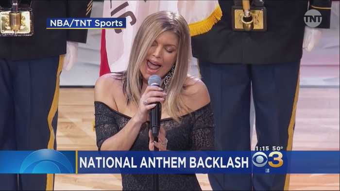 News video: Fergie Says 'Tried My Best' After National Anthem Blowback