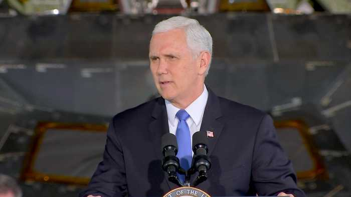 News video: Pence: 'Private enterprise' plays 'vital role' in space exploration