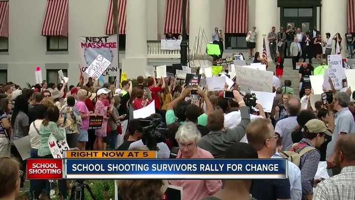 News video: Shooting survivors issue call for action at Florida Capitol