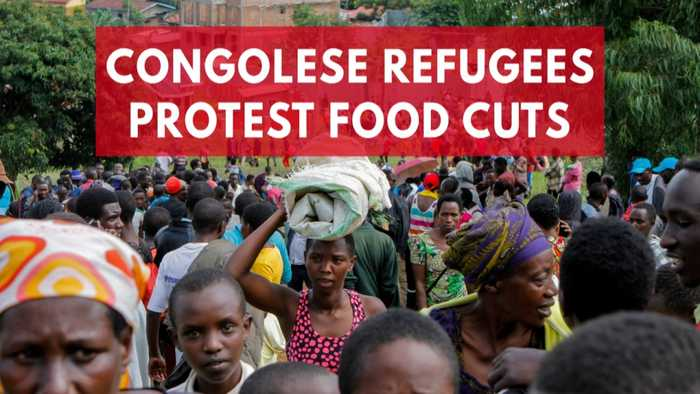News video: Congolese refugees march out of camp in protest at food cuts