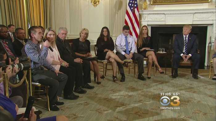 News video: Trump Hears Wrenching Tales At School Violence Meeting