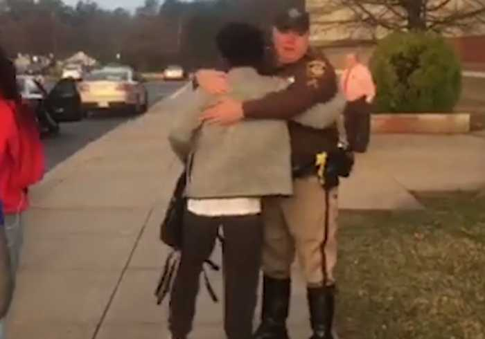 News video: Police High Five Students to 'Show They Care' After Florida Shooting
